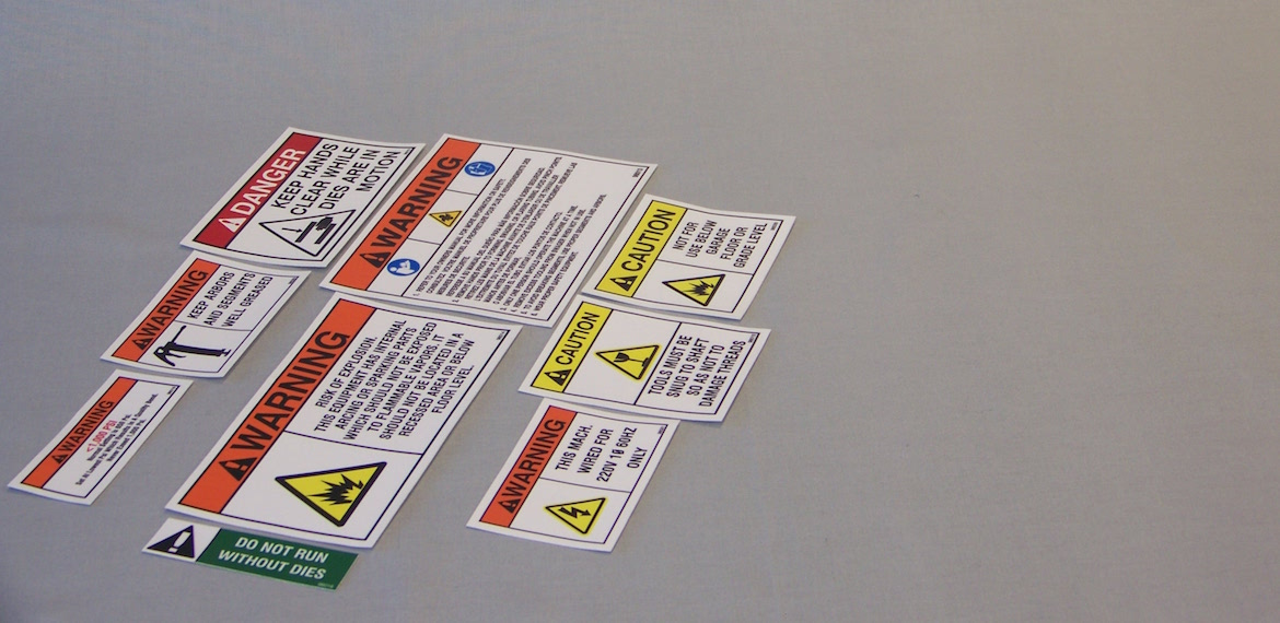 Safety labels Slider Image